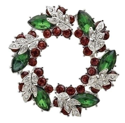 Christmas Wreath Storybook Pin (2