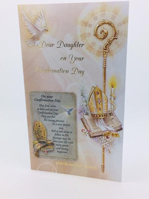 Confirmation Greeting Card for a Daughter - Unique Catholic Gifts