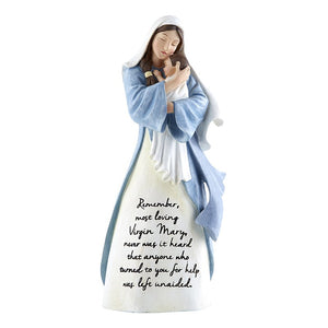"Memorare Virgin Mary Statue 8"" - Unique Catholic Gifts"