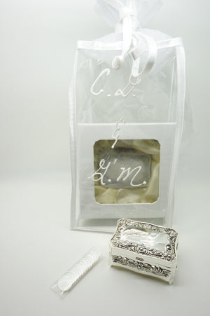 Personalized Gift Bag for Wedding Arras Box(heavy) and Wedding coins - Unique Catholic Gifts