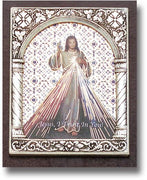 "Divine Mercy Italian Standing Plaque. (2 x 2 1/2"") - Unique Catholic Gifts"