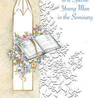 Blessings To A Special Young Main In The Seminary Greeting Card - Unique Catholic Gifts