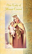 Biography Card of Our Lady of Mount Carmel - Unique Catholic Gifts