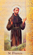 Biography Card of St. Francis - Unique Catholic Gifts