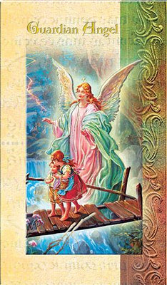 Biography Card of Guardian Angel - Unique Catholic Gifts