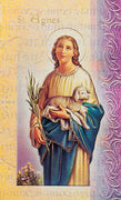 Biography Card of St. Agnes - Unique Catholic Gifts