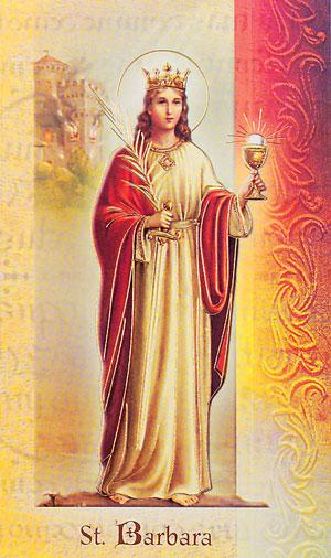Biography card of Saint Barbara