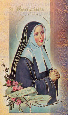 Biography Card of St. Bernadette - Unique Catholic Gifts