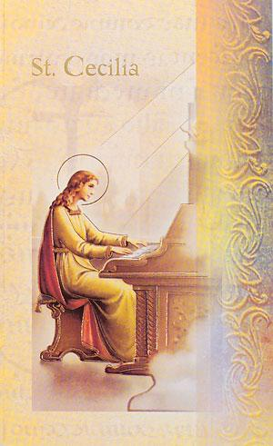 Biography card of Saint Cecilia