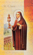Biography Card of St. Clare - Unique Catholic Gifts