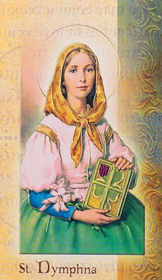 Biography Card of St. Dymphna - Unique Catholic Gifts