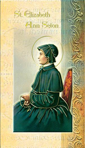 Biography Card of St. Elizabeth Ann Seton - Unique Catholic Gifts