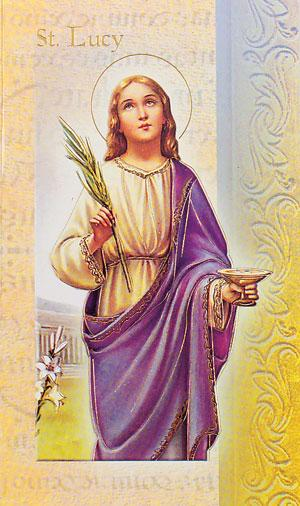 Biography Card of Saint Lucy