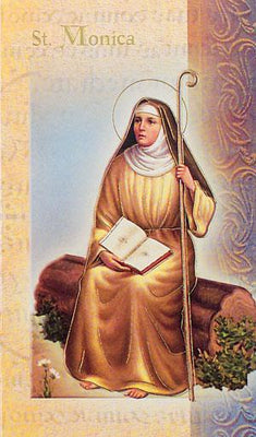 Biography Card of St. Monica - Unique Catholic Gifts