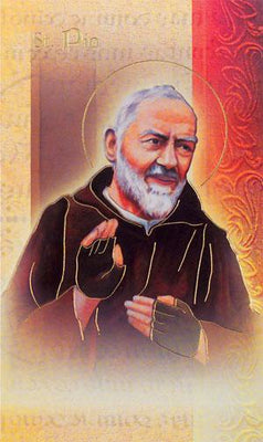 Biography Card of St. Padre Pio - Unique Catholic Gifts