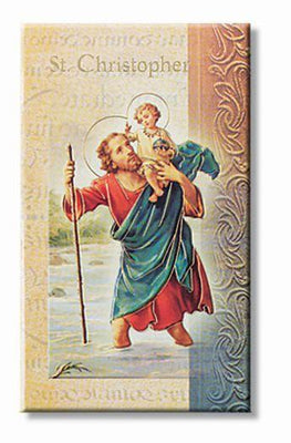 Biography Card of St. Christopher - Unique Catholic Gifts