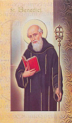 Biography Card of St. Benedict - Unique Catholic Gifts