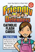 Friendly Defenders: Catholic Flash Cards by Matthew Pinto, Katherine Andes