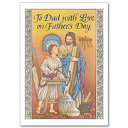 To Dad with Love on Father's Day Father's Day Card - Unique Catholic Gifts