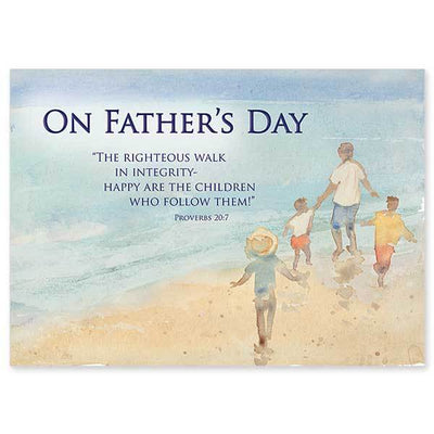 The Righteous Walk in Integrity Father's Day Card - Unique Catholic Gifts
