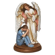 "Female Healthcare Under Her Guardian Angel Statue 8 3/4"" - Unique Catholic Gifts"