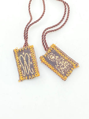 Our  Lady of Mount Carmel Brown Scapular Small - Unique Catholic Gifts