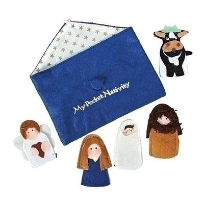 Finger Puppet Nativity Set.