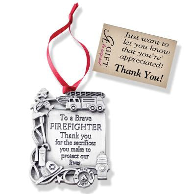 Firefighter Thank You Ornament