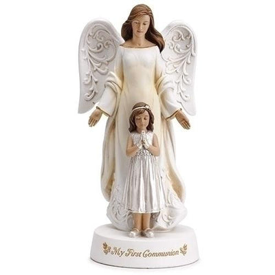 First Communion Angel with Praying Girl - Unique Catholic Gifts
