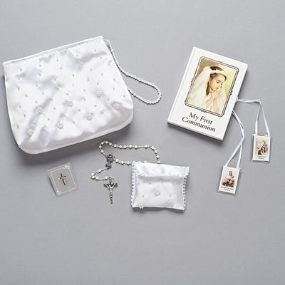 6 Piece First Communion Beaded Purse Set - Unique Catholic Gifts
