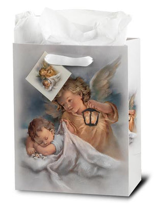 Guardian Angel Inspirational Gift Bag. Medium - Unique Catholic Gifts
