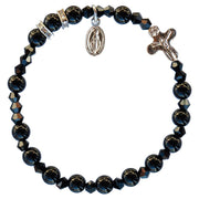 Genuine Black Onyx Bracelet (6 mm) - Unique Catholic Gifts