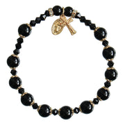 Genuine Black Onyx Rosary Bracelet (8 mm) - Unique Catholic Gifts
