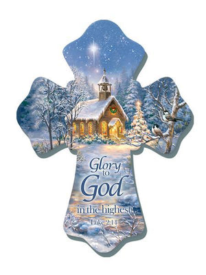 Glory to God in the Highest Wood Wall Cross (6