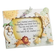 "God Created Everything Picture Frame (6"") for 3.5 x 5 picture - Unique Catholic Gifts"