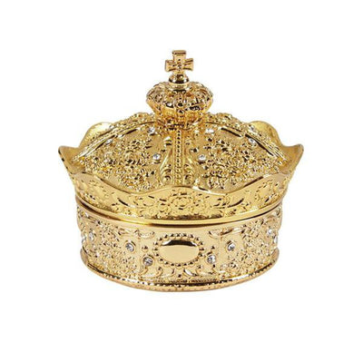 Gold Crown Box With (13 Piece) Arras Coin Set - Unique Catholic Gifts