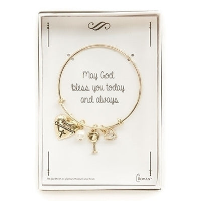 Gold First Communion Bracelet - Unique Catholic Gifts