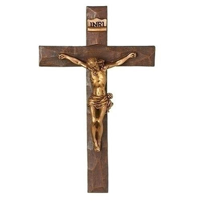 Gold Wall Crucifix 7 1/2