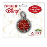 Good Boy Christmas Pet Collar Medal