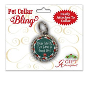 Good Girl Christmas Pet Collar Medal