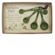 Green Irish Prayer Kitchen Measuring Spoon Set of 4 - Unique Catholic Gifts
