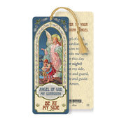Guardian Angel Laminated Tasseled Bookmark - Unique Catholic Gifts