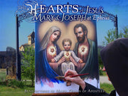 The Hearts of Jesus, Mary and Joseph at Ephesus - Unique Catholic Gifts