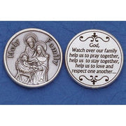 Holy Family Italian Pocket Token Coin - Unique Catholic Gifts