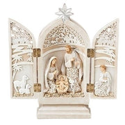 "Holy Family Triptych (8.5"") - Unique Catholic Gifts"