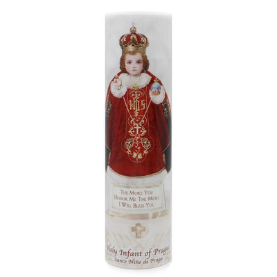 Infant of Prague LED Candle with Timer - Unique Catholic Gifts
