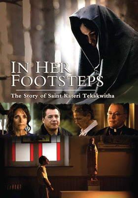 In her Footsteps: The Story of Saint Kateri Tekakwitha DVD jmj - Unique Catholic Gifts