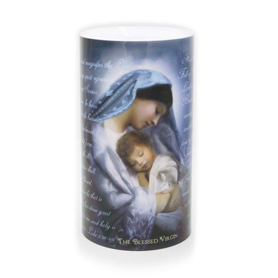 Immaculate Heart and Blessed Virgin LED Candle 4 x7