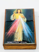 Divine Mercy Wood Rosary Box with Wood Rosary - Unique Catholic Gifts