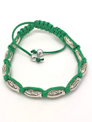 Green Our Lady of Guadalupe  Rosary Bracelet